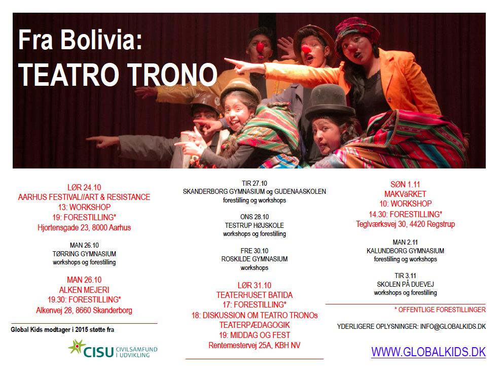 Teatro Trono program