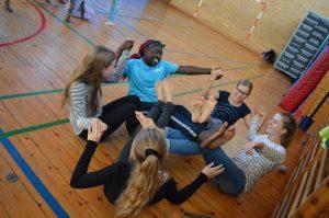 Workshop med elever på Nydamskolen i Sønderborg.
